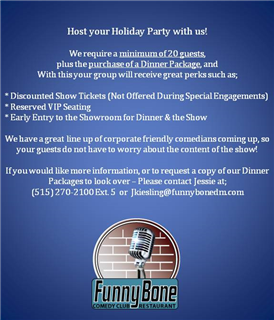 Host Your Holiday Party at the Funny Bone!